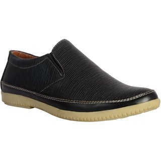 Shoe Adda  Boots Black Slip On Casual Shoe E95