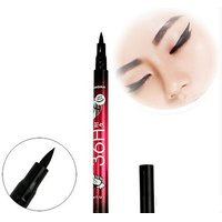 JET Black Sketch Liquid Eye Liner  Waterproof  Smudge Proof  Unique Korean Design