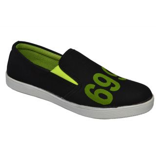 Trendigo MenS Black Slip-On Casual Shoes - 93761717