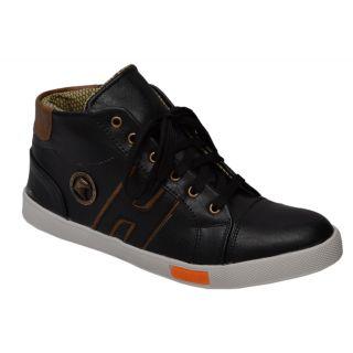 Trendigo MenS Black Lace-Up Casual Shoes - 93761756