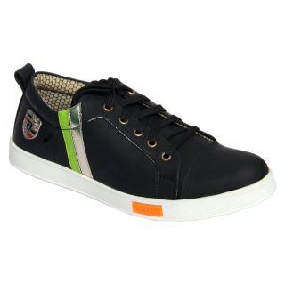 Trendigo MenS Black Lace-Up Casual Shoes - 93761838
