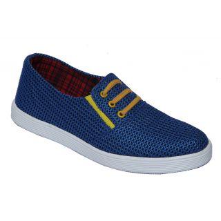 Trendigo MenS Light Blue Lace-Up Casual Shoes - 93761988
