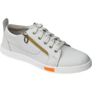 Trendigo MenS White Lace-Up Casual Shoes