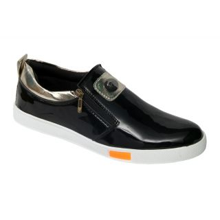 Trendigo MenS Black Slip On Casual Shoes - 93762024