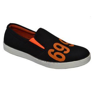 Trendigo MenS Black Slip-On Casual Shoes - 93761708