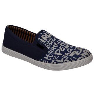 Trendigo MenS Black Slip-On Casual Shoes