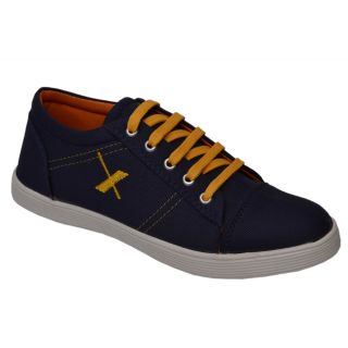 Trendigo MenS Blue Lace-Up Casual Shoes