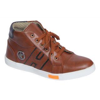 Trendigo MenS Tan Lace-Up Casual Shoes - 93761807