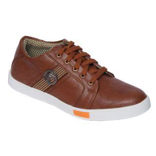 Trendigo MenS Beige Lace-Up Casual Shoes - 93761843