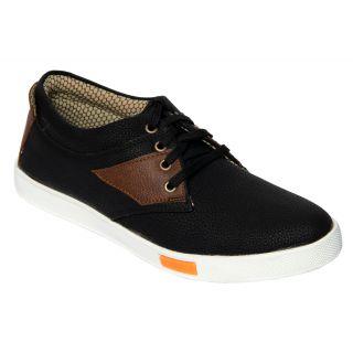 Trendigo MenS Black Lace-Up Casual Shoes - 93761849