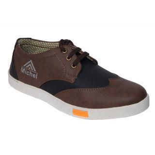 Trendigo MenS Beige Lace-Up Casual Shoes
