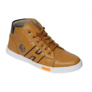 Trendigo MenS Tan Lace-Up Casual Shoes - 93761869