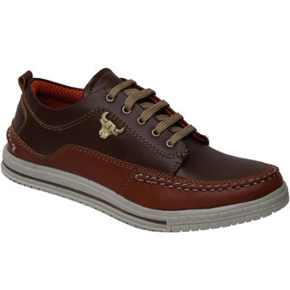 Trendigo MenS Brown Lace-Up Casual Shoes