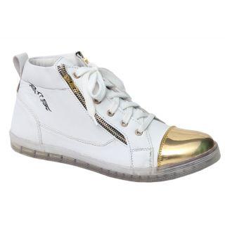 Trendigo MenS White Lace-Up Casual Shoes - 93761951