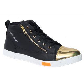 Trendigo MenS Black Lace-Up Casual Shoes - 93761957