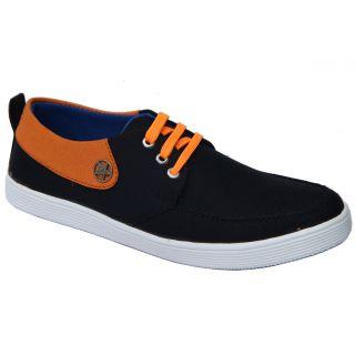 Trendigo MenS Black Lace-Up Casual Shoes