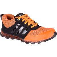 Jokatoo MenS Orange Lace-Up Sport Shoes