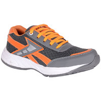 Jokatoo MenS Grey Lace-Up Sport Shoes