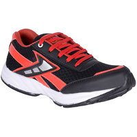 Jokatoo MenS Black Lace-Up Sport Shoes