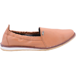 Beautiful Orange Color Leather Men Loafers From The House Of Radiant