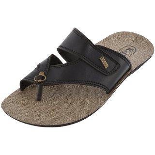 Axtry Mens Casual Black Slippers (ALFA1BLACK) - 94105111