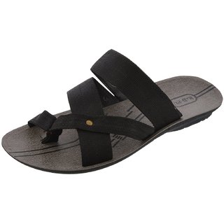 Axtry Mens Casual Black Slippers (ALFA 3 BLACK) - 94139546