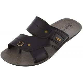 Axtry Mens Casual Black Slippers (APPLE 5 BLACK) - 94142770