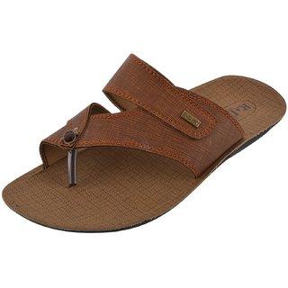 Axtry Mens Casual Black Slippers (ALFA 1 TAN) - 94160006