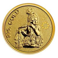 250mg Krishna Gold Coin By Parshwa Padmavati Gold Gold