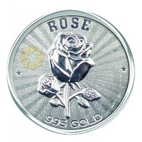 800mg Rose Silver Coin 999 Purity By Parshwa Padmavati Gold
