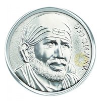 800mg Sai Baba Silver Coin 999 Purity By Parshwa Padmavati Gold