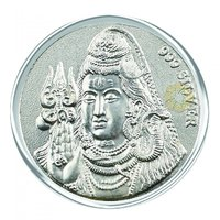 800mg Shiv Silver Coin 999 Purity By Parshwa Padmavati Gold - 94231065
