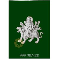 800mg Durga Silver Cut Coins 999 Purity By Parshwa Padmavati Gold