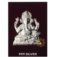 800mg Ganesh Silver Cut Coins 999 Purity By Parshwa Padmavati Gold