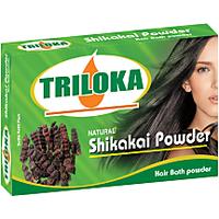 Triloka Shikakai Hair Bath Powder ( Shampoo Powder) Box Pack
