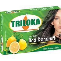 Triloka Anti- Dandruff Hair Bath Powder ( Shampoo Powder) Box Pack