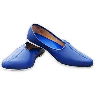 Skylyf Blue Desi Casual Ethnic Mojari Mozari Jutti Juti Jooti Footwear