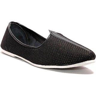 Skylyf Jute Black In White Shadow Ethnic Mojari Mozari Jutti Juti Jooti Footwear