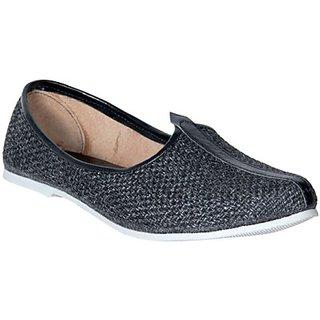 Skylyf Jute Black Ethnic Mojari Mozari Jutti Juti Jooti Footwear
