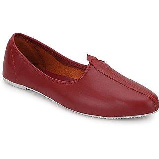 Skylyf Maroon Jalsa Ethnic Mojari Mozari Jutti Juti Jooti Footwear