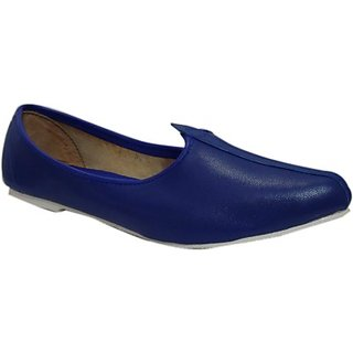 Skylyf Blue Jalsa Ethnic Mojari Mozari Jutti Juti Jooti Footwear