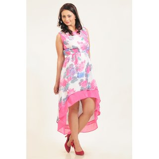 A Guster Ve..C3G0111A High Low Printed Dress
