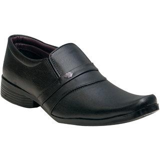 Oora Black Cobra Slip On Formal Shoes For Men