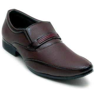 Oora Brown Kseries Slip On Formal Shoes For Men
