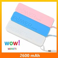 PREMEUM  QUALITY 2600 MAH POWER BANK PORTABLE USB CHARGER FOR ANY MOBILE TABLET
