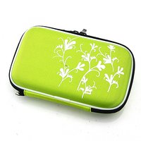 "New 2.5"" Portable Hard Disk Drive Bag Zipper Pouch Case HDD Pouch Bag Protective Hard Shockproof Cover Carry Green"