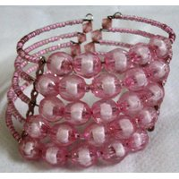 Pink Beads Bracelet Set Of Two