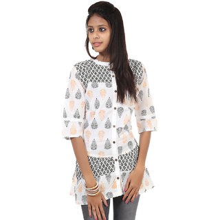 Rajrang Well-Formed Cotton Handmade Block Printed Halter Neck Top