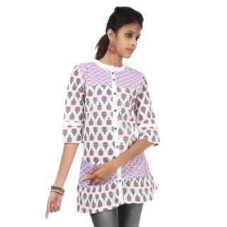 Rajrang Dazzling Cotton Handmade Block Printed Halter Neck Top