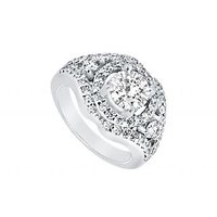 LoveBrightJewelry Platinum Diamond Engagement Ring-1.50 CT
